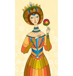 princess girl flower vector image vector image