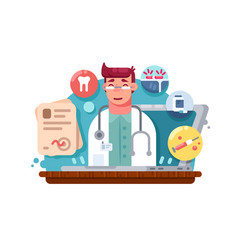 service online doctor vector image