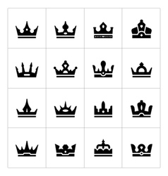 Set icons of crown vector image