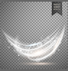 transparent white light effect background vector image vector image