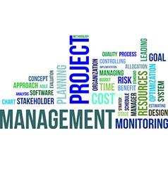 Word cloud project management vector