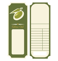 - olive oil label template vector image vector image