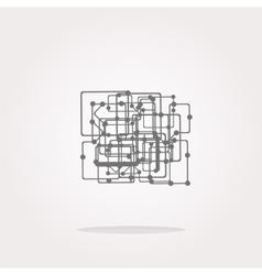 abstract metro circle glossy web icon on vector image vector image