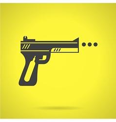 Black sport airgun flat icon vector image