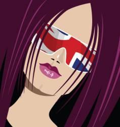 British babe vector image vector image
