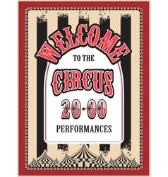 retro poster circus vector image vector image