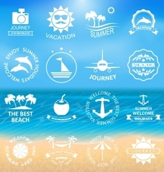 Set Summer LabelsTemplates vector image