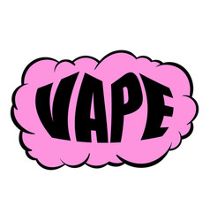 smoke vape icon cartoon vector image