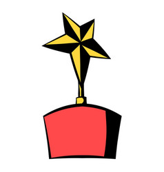 star award icon icon cartoon vector image vector image