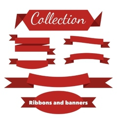 The collection of retro ribbons banners vector image