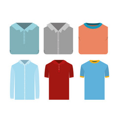 white background of colorful set elements clothes vector image