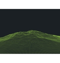 Abstract Cyberspace Grid Landscape Background vector image