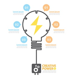 Creative power vector image vector image