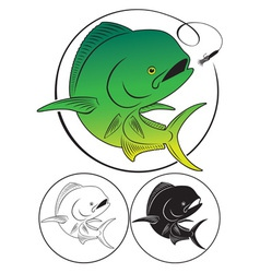 Dolphin fish vector image vector image