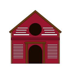 farm house symbol vector image