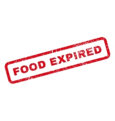 Food expired text rubber stamp vector