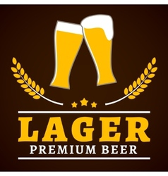 Lager beer poster vector image vector image