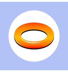 rubber ring in circle vector image vector image