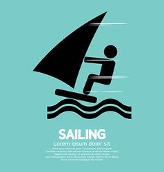 Sailing Sport Symbol vector image vector image