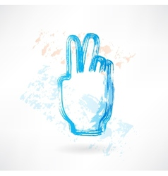 two fingers grunge icon vector image