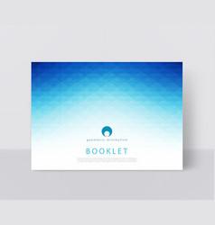 a blue brochure template modern vector image