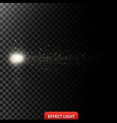 a flow of sparkling golden vector image