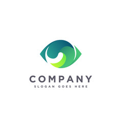 Abstract colorful eye care eye vision logo icon vector