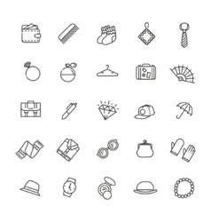 Accessories concept line flat design vector