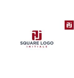 Aj square logo design inspiration vector