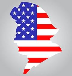 American minutemen silhouette vector