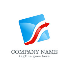 arrow business finance logo design vector image