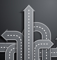 Arrows in the form of roads vector