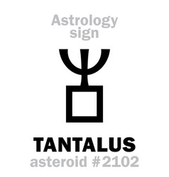 Astrology asteroid tantalus vector