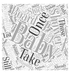 Babyshower Word Cloud Concept vector