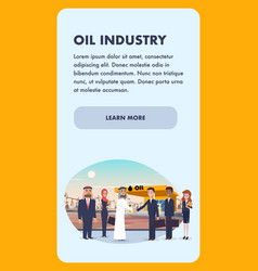 Banner business meeting oil industry vector