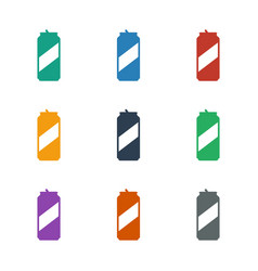 Beer can icon white background vector