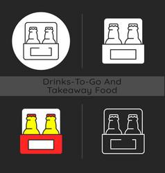 Beer to go dark theme icon vector