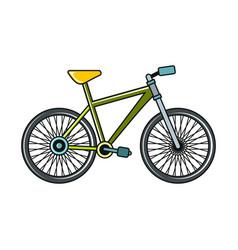 bike cartoon icon on white background vector image