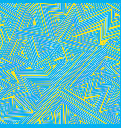 blue color maze seamless pattern vector image