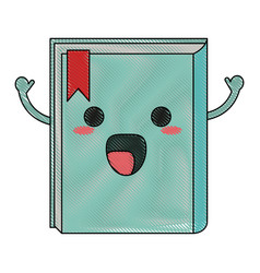 book happy cartoon character icon image vector image