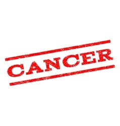 Cancer Watermark Stamp vector image