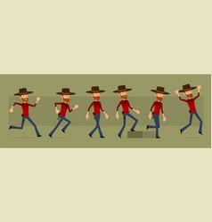 cartoon redhead lumberjack character set vector image