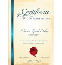 Certificate template 2 vector