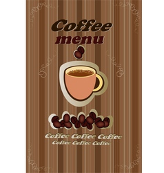 Coffee tea menu vector image
