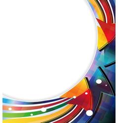 Color arrows frame vector