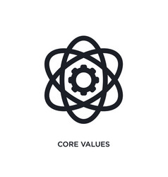 Core values isolated icon simple element from vector