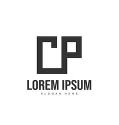 Cp letter logo design initial letter logo template vector