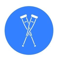 Crutches icon black Single medicine icon from the vector