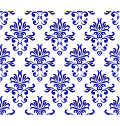 damask pattern seamlesss vector image