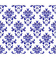 damask pattern seamlesss vector image